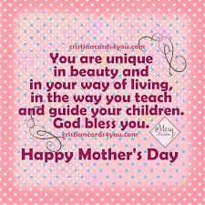happy mother s day to a beautiful w christian cards for you