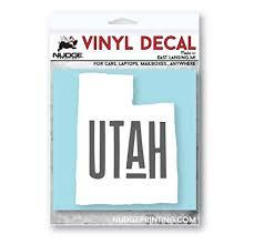 State Of Utah Car Decal Nudge Printing