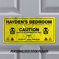 Personalised Name Plaque Door Bedroom Sign Gift Boys Room Funny Plaque Playroom Ebay