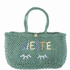 Emile et ida - Green handmade embroidered bag