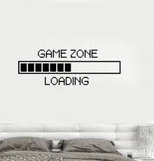 Vinyl Decal Game Zone Computer Gaming Decor Loading Video Game Wall Stickers Unique Gift Ig2747 Gaming Decor Game Room Wall Stickers Unique