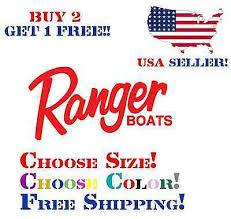 Ranger Boats Decal Window Sticker Car Truck Bass Boat Fishing Vinyl Decal Ebay