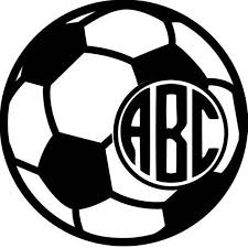 Soccer Ball Monogram Decal For Tumblers Cups Cars Etsy