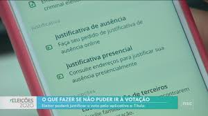 Jornal do Almoço - SC | Eleitor que não puder votar deverá justificar pelo  aplicativo e-Título