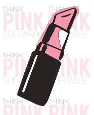 Lipstick Car Decal Think Pink Software