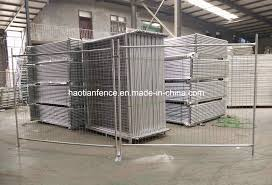 China 2 1x2 4m Galvanized Temporary Fence With Concrete Block Base Brace Stay Clamp And Shade Cloth Photos Pictures Made In China Com