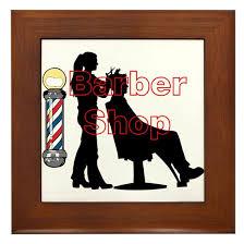 Lady Barber Shop Design Framed Tile By Jessielee Cafepress