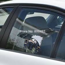 Newest Car Styling Naruto Kakashi Hitting The Glass Stickers Car Decal For Toyota Chevrolet Volkswagen Tesla Hyundai Kia Lada Car Decal For Toyotacar Styling Aliexpress
