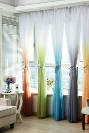 If Your Favorite Color Is Rainbow Go All Our With These Dip Died Curtains Living Room Door Curtains Living Room Decor Curtains