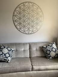Circle Symmetry Geometric Mandala Pattern Flower Of Life Wall Decal Os Mb372 Stickerbrand