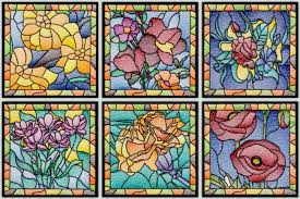 c1508 stained glass fl squares iii
