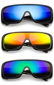 goggle colored mirror mono lens