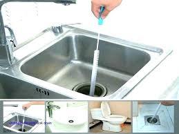 does vinegar unclog bathroom sink clean