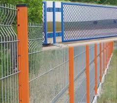 Modular Security Mesh Fence System Of Welded Mesh Panels