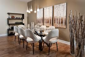 glass dining table living room