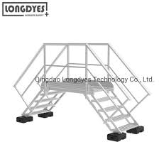China Aluminum Crossover Bridge With Roof Stair For Safety Access Solutions China Aluminum Crossover Bridge Crossover Bridge With Roof Stair