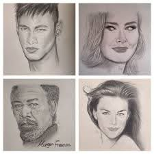 Neymar / Adele / Morgan Freeman / Liv Tyler | Sketches, Morgan freeman,  Portrait