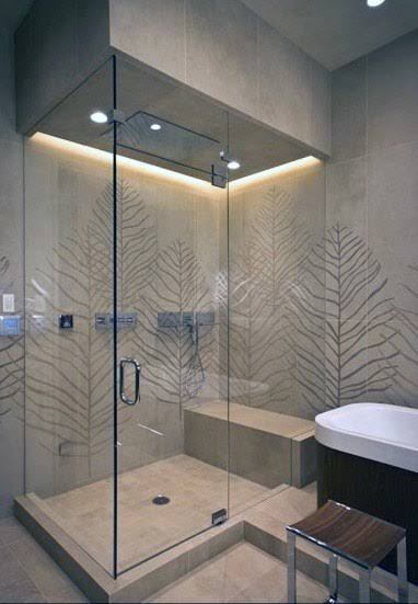 Decorative lighting in shower