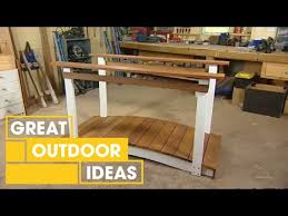how to build a backyard bridge