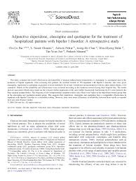 PDF) Adjunctive risperidone, olanzapine and quetiapine for the treatment of  hospitalized patients with bipolar I disorder: A retrospective study    Won-myong Bahk - Academia.edu