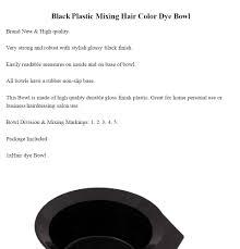 hair color dye bowl black