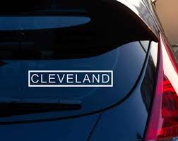 Cleveland Car Decal Etsy