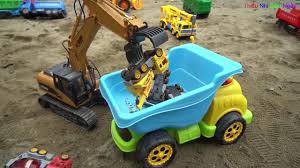 Nhạc Thiếu Nhi - Máy Cẩu Gắp Xe Ô Tô Lên Xe Tải Khổng Lồ   Excavator Lift  Car On the Truck S1 - repacted