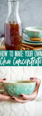 how to make chai concentrate fox and