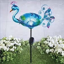 peacock decorative metal garden stake