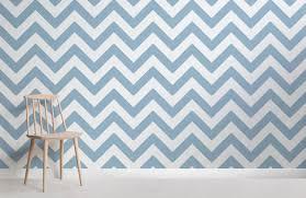 Blue Chevron Wallpaper Zig Zag Pattern Muralswallpaper
