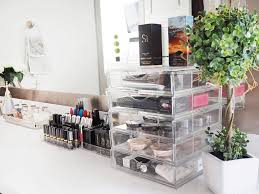 how to organize your makeup vanity