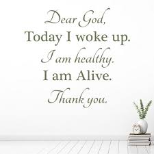 Dear God Today I Woke Up Christianity Wall Decal Sticker Ws 42974 Ebay
