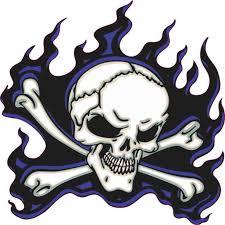 5in X 5in Blue Flame Skull Bumper Sticker Car Vinyl Truck Window Decal Walmart Com Walmart Com
