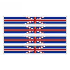 Hot Offer E47d2 Szwl 4 X Car Stripe England Flag Sticker British United Kingdom Uk Car Stickers Vinyl Decal For Automobile Bike Moto 13cm 1cm Cicig Co