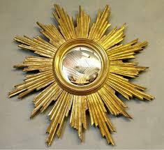 mid century gilded sunburst mirror