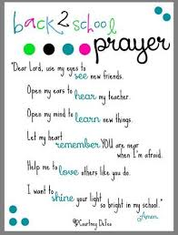 what would you say to your child s teacher back to school prayer