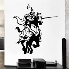 Charging Knight Wall Decal Medieval Knight Wall Decals Knight Armor