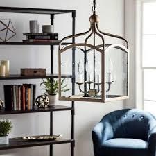 farmhouse chandelier entryway rustic