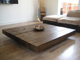 wood extra large coffee table