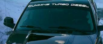 Product Decal For Ram Truck Cummins Turbo Diesel Windshield Vinyl Sticker