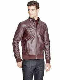 guess men s jerred quilted faux leather