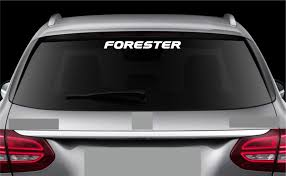 For Rear Window Sticker Fits Subaru Forester Decal Emblem Car Logo Rw18 Clutch Daddy Store