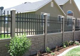 Faux Rock Faux Stone Fencing For Western New York Fence Design Concrete Fence Backyard Fences