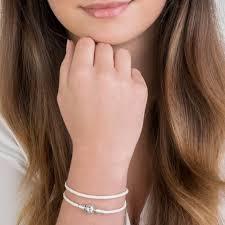 double leather charm bracelet