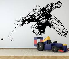 Ice Hockey Personalized Boys Kids Name Vinyl Puck Wall Decor Wall Sticker Art Wall Decal Diy Mural Wallpaper Sticker Art Sticker Design For Motorcyclesticker Puffy Aliexpress