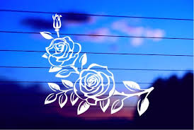 Two Pretty Roses Car Decal Sticker