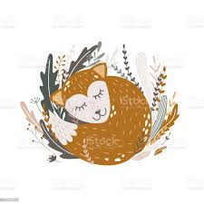 Fox Kids Poster Cartoon Character For Printing On Fabric Textile For Kids Room Design Stock Illustration Download Image Now Istock