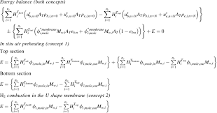 energy balance equations for each cstr