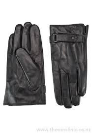 leather gloves with strap