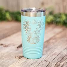 Cute Elephant Engraved Stainless Steel Tumbler Yeti Style Cup Elephant Lover Gift 3c Etching Ltd